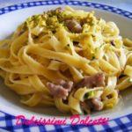 Pappardelle con salsiccia e crema di pistacchio