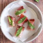 Bocconcin con noci speck e gorgonzola